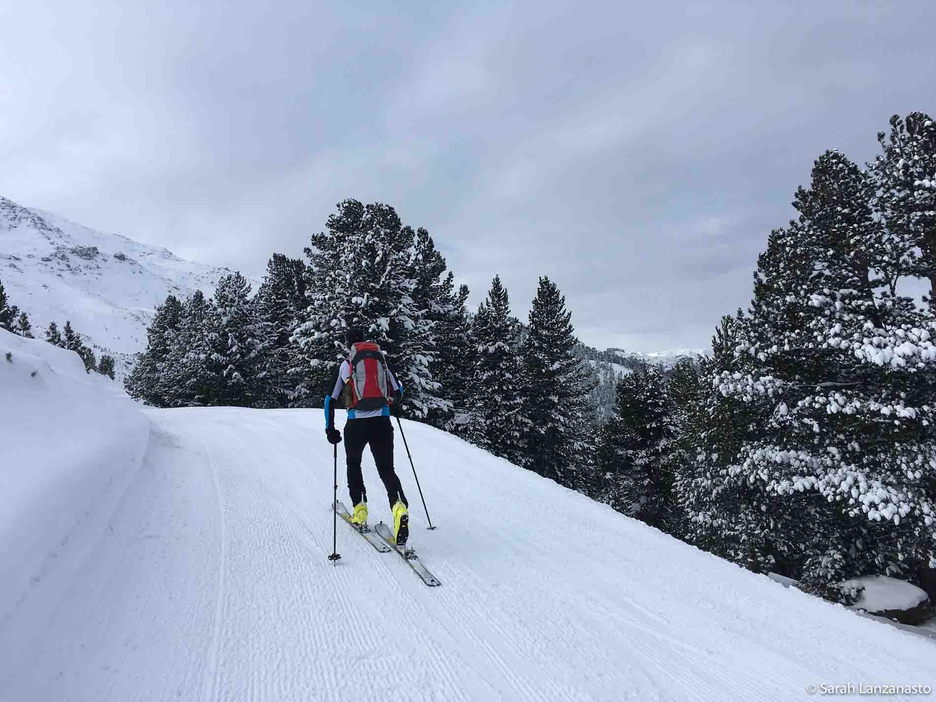 Sarah Lanzanasto - Alpenverein skialp na zjazdovkach
